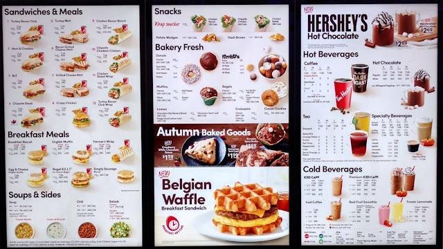 Tim Hortons menu i Canada