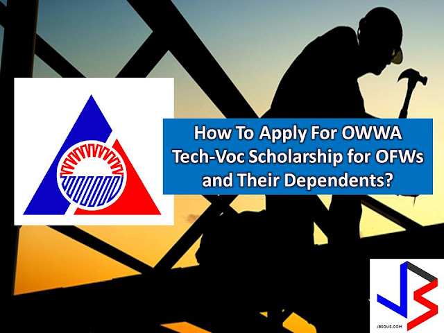 Here is a good news to Overseas Filipino Workers (OFW)s and their dependents who wish to pursue the technical vocational course.  You may now apply for training assistance program of Overseas Workers Welfare Administration (OWWA) Skills for Employment Scholarship Program (SESP).  This program is open to all active OWWA members, or their dependents. OWWA will pay the expenses of taking up any tech-voc course accredited by the Technical Education and Skills Development Authority (TESDA) in any training course within their respective region.