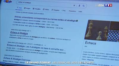Le Grand Format du JT de 20h de TF1 consacré aux échecs
