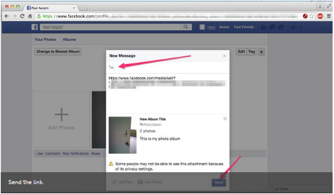 How to Share an Album on Facebook