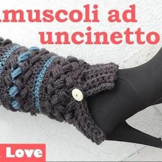 Medias Calienta Piernas a Crochet