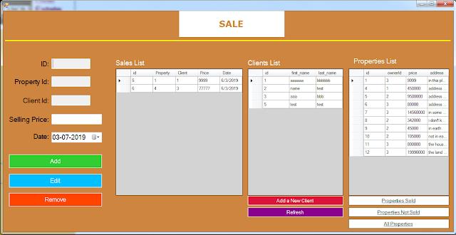 property sale form