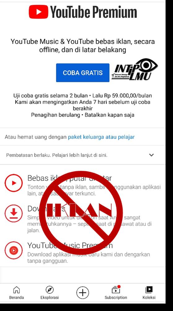 Youtube Gratis Tanpa Iklan dari Vanced Aplikasi