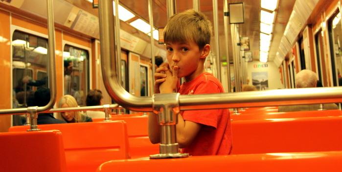 Финн в метро