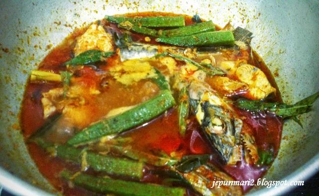 resepi masak asam ikan tenggiri