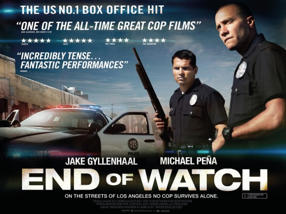 End of Watch - Film Review - Jake Gyllenhaal, Michael Pena, Anna Kendrick