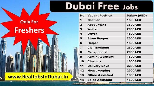 Jobs In Dubai For Freshers - UAE