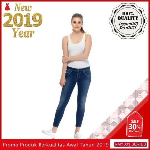 RMY002J26 Jeje Jeans Celana Jeans Keren Reguler Aqua BMGShop