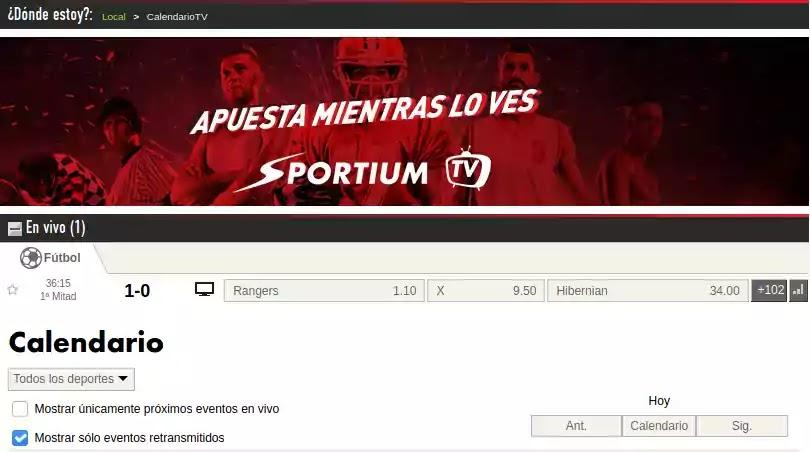 web sportium tv