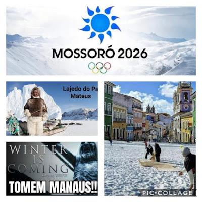 Meme: Mossoró já se candidatou como sede das Olimpíadas de Inverno