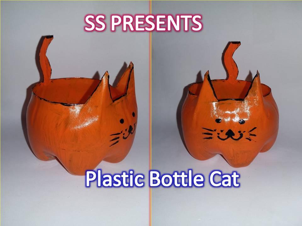 Plastic bottle pet holder ssartscrafts for Craft items made from plastic bottles