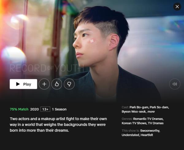 Popular Korean Drama on Netflix Record of Youth