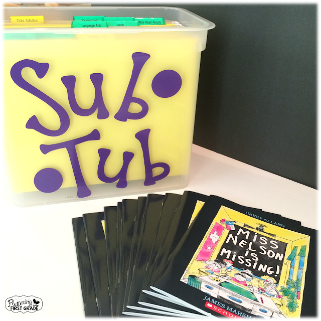 Sub plans made easy with Miss Nelson is Missing.