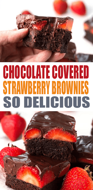 #CHOCOLATE COVERED #STRAWBERRY #BROWNIES
