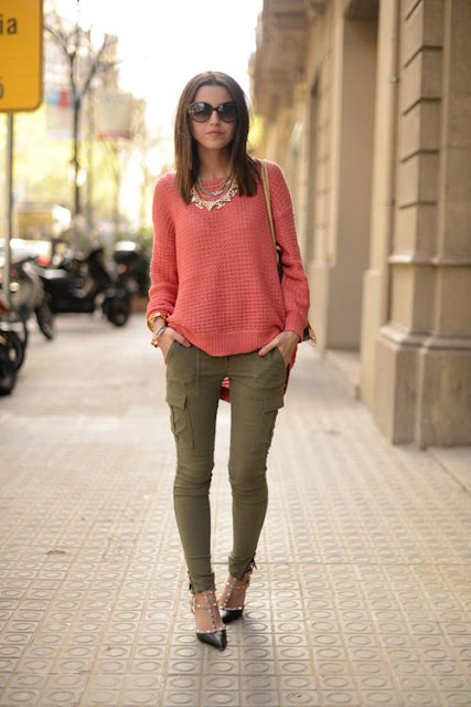 Olive & Coral street style