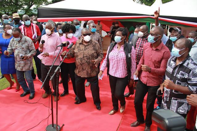 Suba South MP John Mbadi, Woman Rep Gladys Wanga,  and Senator Moses Kajwang' (Senator)