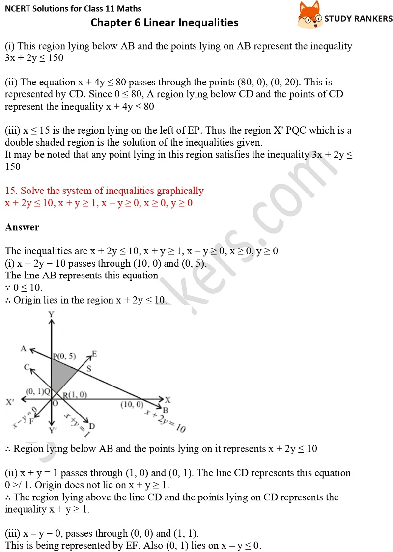 NCERT Solutions for Class 11 Maths Chapter 6 Linear Inequalities 29