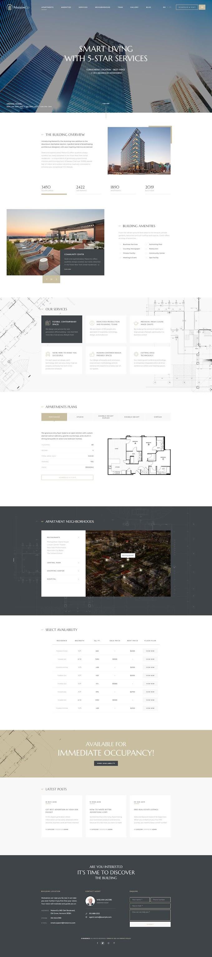 MaisonCo Best WordPress Theme | Single Property Review