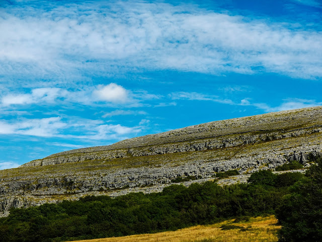 Karst Mountain side in the Burren, Co.Clare.