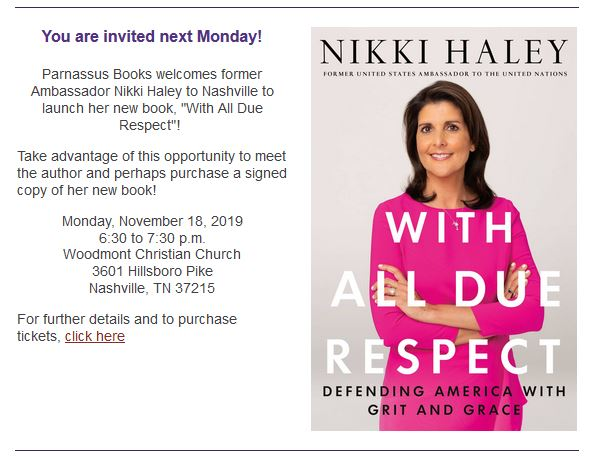 https://www.eventbrite.com/e/author-event-with-ambassador-nikki-haley-tickets-71540580803