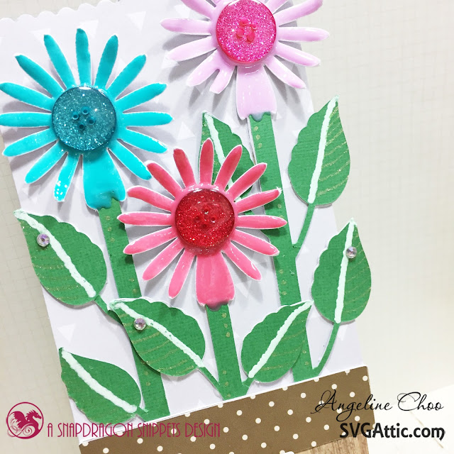 ScrappyScrappy: Flowers Easel Card with SVG Attic #svgattic #scrappyscrappy #jgwsunflowersunshine #easelcard #card #cardmaking #papercraft #craft #crafting #nuvodrop #tonicstudios #gellyroll #ginamariedesign #katscrappiness