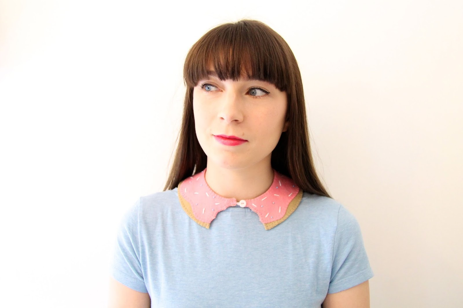 DIY Felt Donut collar tutorial