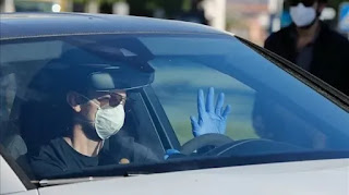 Pictures: Barca back at training ground for coronavirus tests ahead of return to work