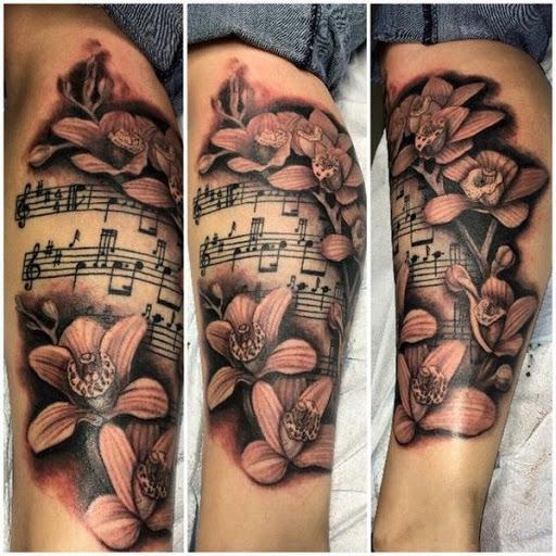 Orquídea, Folha De Música Da Tatuagem