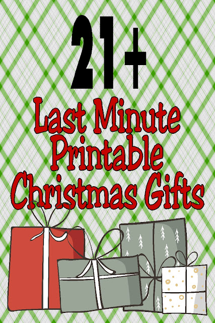 Need a last minute gift for that someone special on your Christmas list? Don't forget your favorite teacher, mailman, delivery driver, cashier, or friend with these last minute printable Christmas gifts.