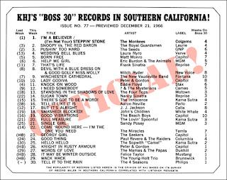 KHJ Boss 30 No. 77 - December 21, 1966