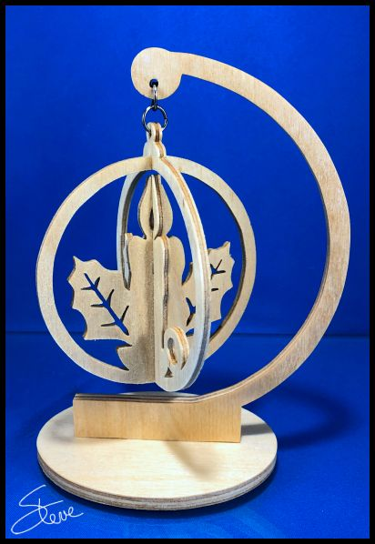 3d Scroll Of Parchment Photo: Scrollsaw Workshop: 3D Candle Ornament Scroll Saw Pattern