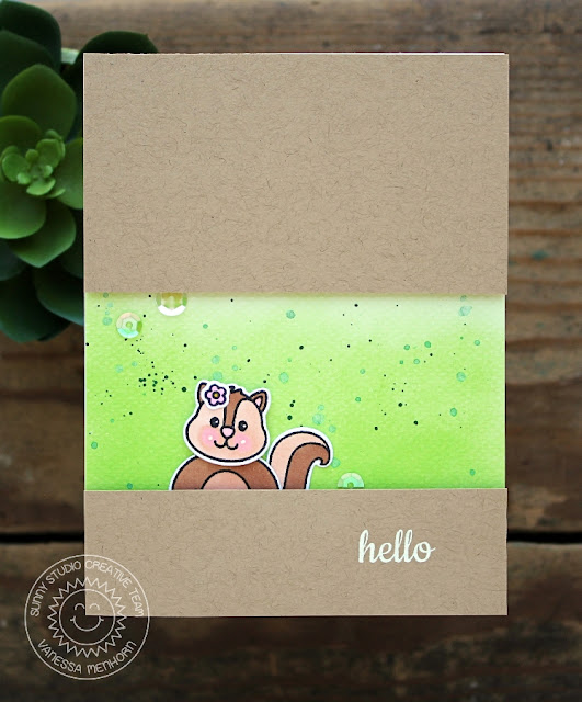 Sunny Studio Stamps: Woodsy Creatures Chipmunk Card by Vanessa Menhorn.