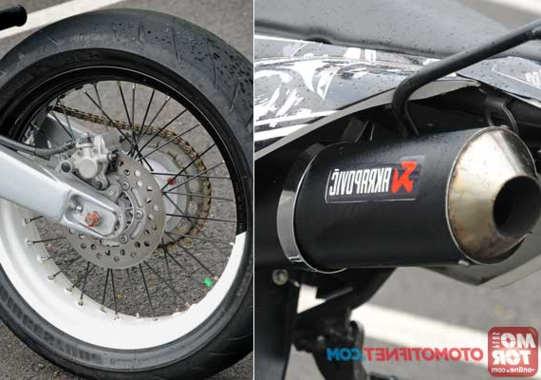 Mufler Dan Pelek Tapak Lebar Cara Modifikasi Motor Kawasaki KLX 150 Supermoto Multifungsi