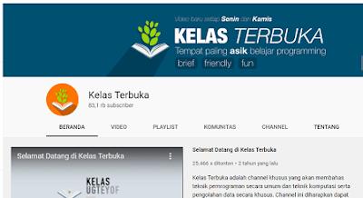 6 Channel Youtube Belajar Pemrograman Bahasa Indonesia Terbaik
