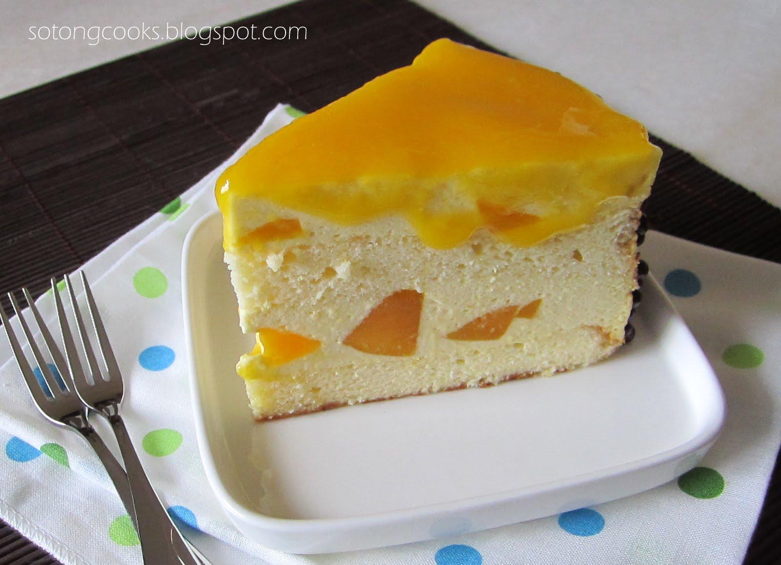 Eggless Upside Down Mango Cake Recipe