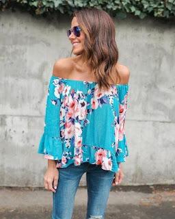 moda feminina blusa florida
