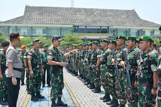 Kasdam XII/Tpr Pimpin Apel Gelar Pasukan Pengamanan VVIP Kunjungan Kerja Presiden