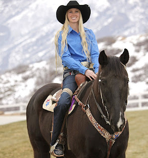 Amberley Snyder riding her horse
