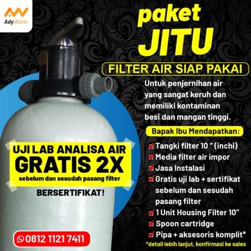 paket filter air, harga filter air, jual filter air murah