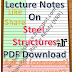 Lecture Notes on Steel Structures PDF Download