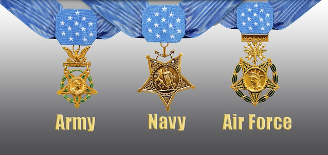Each branch of service's Medal of Honor