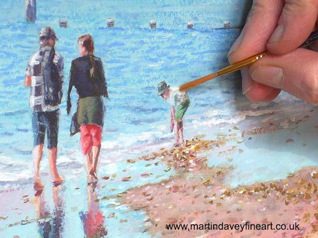 snippet of painting Martin Davey beach Dorset