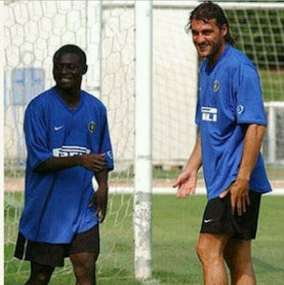 Check out this epic throwback photo of Obafemi Martins and ex-Italian star striker Christian Vieri at Inter Milan