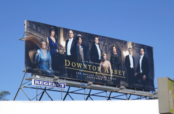 Downton Abbey Movie billboard