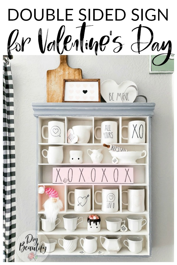 Valentines day decor and DIY sign