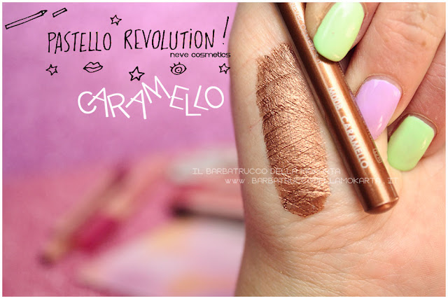 caramello swatches BioPastello occhi Neve Cosmetics  pastello revolution