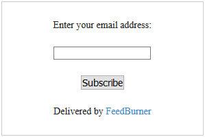 feedburner email box for blogger