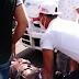 Motorista sufre accidente al enredarse con el hilo de una chichigua en La Romana.