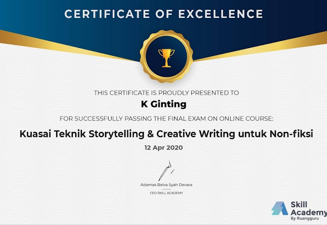 Sertifikat Online Course