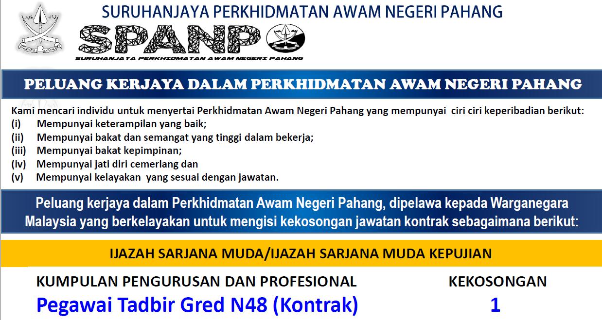 Jawatan Kosong Di Suruhanjaya Perkhidmatan Awam Negeri Pahang Appjawatan Malaysia